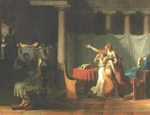 Jacques Louis David - Lictors Bringing Brutus the Bodies of His Sons