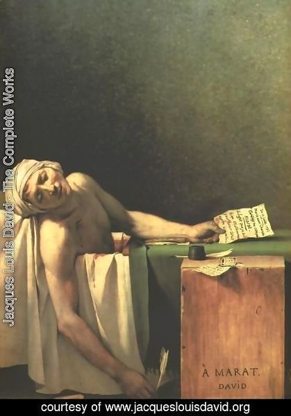 Jacques Louis David - Death of Marat