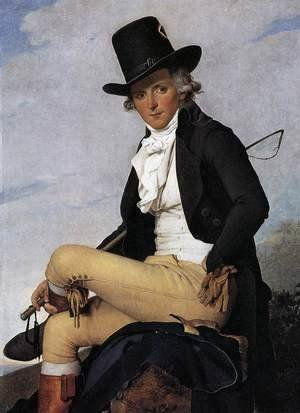 Jacques Louis David - Portrait of Pierre Seriziat